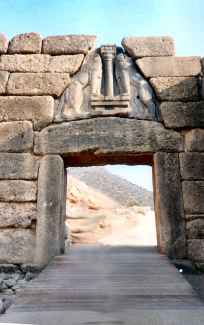 Grecia come explore - La porta dei leoni a micene ...